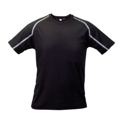 Sport t-shirt, unisex, M, S-XXL, 20FEB16712, Poliester, Negru, Gri