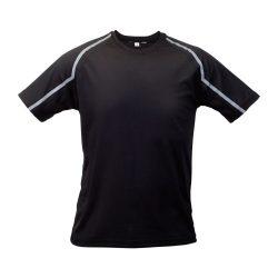Sport t-shirt, unisex, S, S-XXL, 20FEB16713, Poliester, Negru, Gri