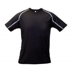 Sport t-shirt, unisex, XL, S-XXL, 20FEB16714, Poliester, Negru, Gri