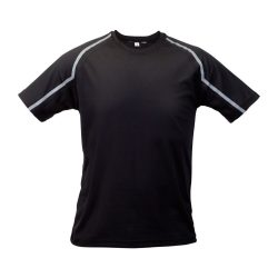Sport t-shirt, unisex, XXL, S-XXL, 20FEB16715, Poliester, Negru, Gri