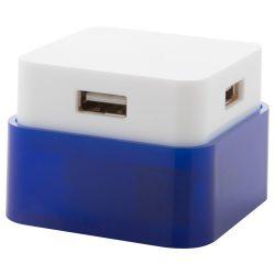 Usb hub, 54×40×54 mm, Everestus, 20FEB4716, Plastic, Albastru, Alb
