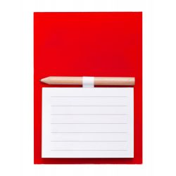Magnetic notepad, 99×139 mm, Everestus, 20FEB9308, Magnet, Plastic, Rosu