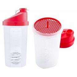 Protein shaker, 700 ml, ø96×210 mm, Everestus, 20FEB7462, Polipropilena, Rosu