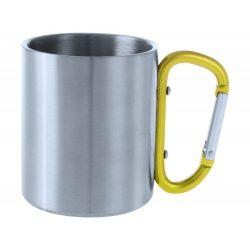 Cana, 200 ml, ø70×80 mm, Everestus, 20FEB15739, Otel inoxidabil, Galben, Argintiu