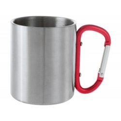 Cana, 200 ml, ø70×80 mm, Everestus, 20FEB15738, Otel inoxidabil, Rosu, Argintiu