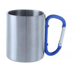 Cana, 200 ml, ø70×80 mm, Everestus, 20FEB15736, Otel inoxidabil, Albastru, Argintiu