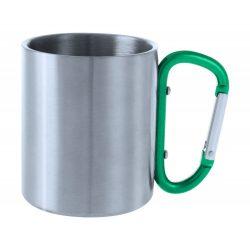 Cana, 200 ml, ø70×80 mm, Everestus, 20FEB15737, Otel inoxidabil, Verde, Argintiu