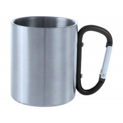 Cana, 200 ml, ø70×80 mm, Everestus, 20FEB15735, Otel inoxidabil, Negru, Argintiu