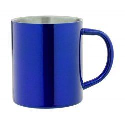 Cana, 300 ml, ø76×89 mm, Everestus, 20FEB15744, Otel inoxidabil, Albastru, Argintiu
