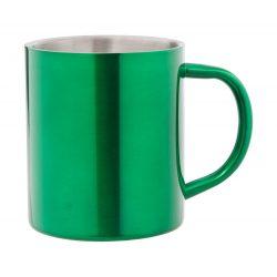 Cana, 300 ml, ø76×89 mm, Everestus, 20FEB15745, Otel inoxidabil, Verde, Argintiu