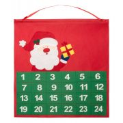 Advent calendar, 380×400 mm, Everestus, 20FEB16212, Material netesut, Rosu, Verde