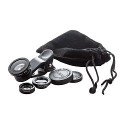 Smartphone lens kit, 95×137×25 mm, Everestus, 20FEB4456, Sticla, Aluminiu, Negru