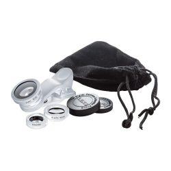 Smartphone lens kit, 95×137×25 mm, Everestus, 20FEB4457, Sticla, Aluminiu, Argintiu, Negru