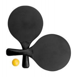 Tenis de plaja, 330×190 mm, Everestus, 20FEB3556, Lemn, Plastic, Negru
