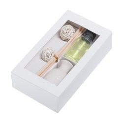 Set difuzor aroma, iasomie, 9 piese, 157×89×41 mm, Everestus, 20FEB3687, Ceramica, Alb