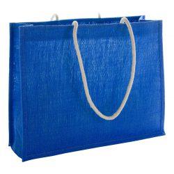 Geanta de plaja, 445×350×140 mm, Everestus, 20FEB10957, Iuta, Bumbac, Albastru