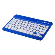 Bluetooth keyboard, 200×6×125 mm, Everestus, 20FEB4158, Plastic, Albastru, Alb