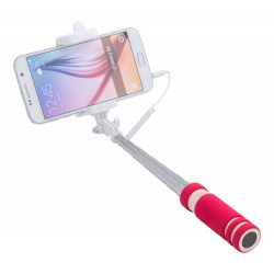 Selfie stick, ø26×600 mm, Everestus, 20FEB4463, Otel inoxidabil, EVA, Rosu, Alb