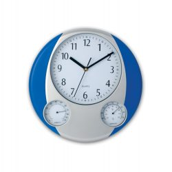 Ceas de perete, ø320×22 mm, Everestus, 20FEB3415, Plastic, Albastru