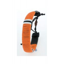 Bracelet, ø70×13 mm, Everestus, 20FEB5506, Piele, Bumbac, Portocaliu