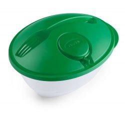 Cutie pentru salata, 1200 ml, 180×225×115 mm, Everestus, 20FEB2897, Polipropilena, Verde