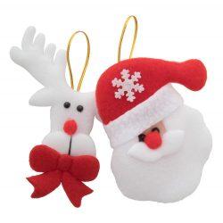 Christmas tree ornament set, 150×170×15 mm, Everestus, 20FEB16253, Poliester, Alb, Rosu