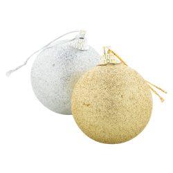 Christmas tree ornament set, Everestus, 20FEB16256, Polistiren, Argintiu, Auriu