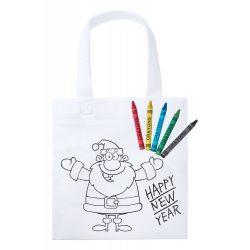 Sacosa de colorat, Happy New Year, Everestus, 20FEB1952, Material netesut, Alb