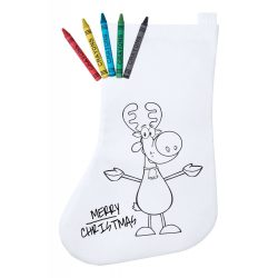 Colouring christmas stocking, Everestus, 20FEB1945, Material netesut, Alb, Rosu