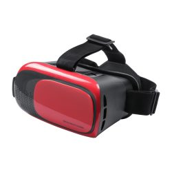Virtual reality headset, 140×129×200 mm, Everestus, 20FEB12149, Plastic, Rosu, Negru