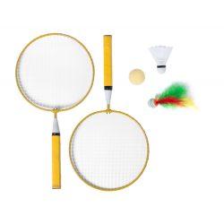 Badminton set, 225×435×45 mm, Everestus, 20FEB6537, Metal, Lemn, Galben