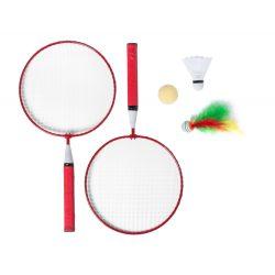 Badminton set, 225×435×45 mm, Everestus, 20FEB6536, Metal, Lemn, Rosu