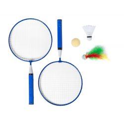 Badminton set, 225×435×45 mm, Everestus, 20FEB6534, Metal, Lemn, Albastru