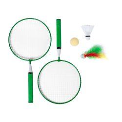 Badminton set, 225×435×45 mm, Everestus, 20FEB6535, Metal, Lemn, Verde