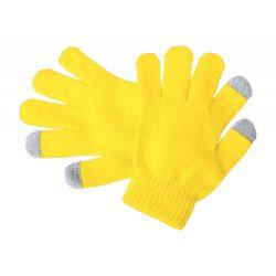 Manusi touchscreen pentru copii, 150×125 mm, Everestus, 20FEB17079, Acril, Galben, Gri