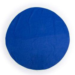 Covoras rotund de plaja, ø1500 mm, Everestus, 20FEB17147, Bumbac, Albastru