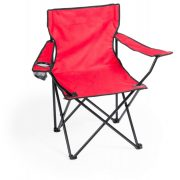 Scaun camping pliabil cu suport pahar, 830×790×475 mm, Everestus, 20FEB10871, 600D Poliester, Rosu