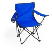 Scaun camping pliabil cu suport pahar, 830×790×475 mm, Everestus, 20FEB10869, 600D Poliester, Albastru