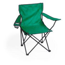 Scaun camping pliabil cu suport pahar, 830×790×475 mm, Everestus, 20FEB10870, 600D Poliester, Verde