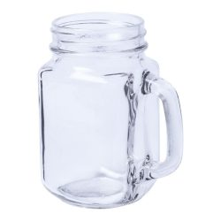 Mason jar drinking glass, 450 ml, 105×134×73 mm, Everestus, 20FEB1999, Sticla, Transparent