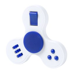 Fidget spinner, 75×75×15 mm, Everestus, 20FEB16264, Plastic, Albastru, Alb