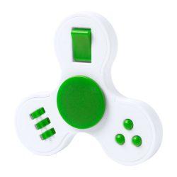 Fidget spinner, 75×75×15 mm, Everestus, 20FEB16265, Plastic, Verde, Alb
