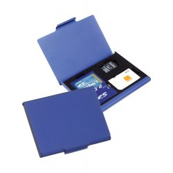 Memory card case, 60×45×5 mm, Everestus, 20FEB4083, Aluminiu, Albastru