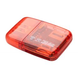 Memory card reader, Everestus, 20FEB4066, Plastic, Rosu