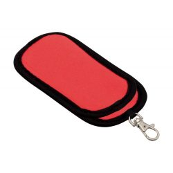 Pendrive case, 95×48 mm, Everestus, 20FEB4100, Poliester, Rosu