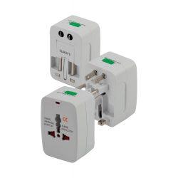 Plug adapter, 50×74×40 mm, Everestus, 20FEB6575, Plastic, Alb