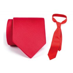Cravata, 1480×90 mm, Everestus, 20FEB4296, Poliester, Rosu