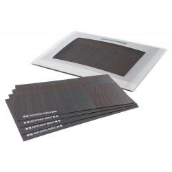 Set 4 suporturi pentru farfurii, 485×330×5 mm, Antonio Miro by AleXer, 20FEB11140, PVC, Poliester, Negru