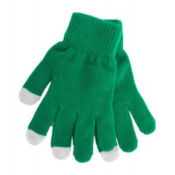 Manusi touchscreen, Everestus, 20FEB17060, Poliester, Verde, Gri