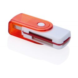 Card reader, 22×60×16 mm, Everestus, 20FEB4121, Plastic, Rosu